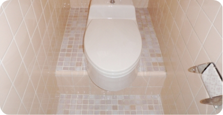 和式トイレ洋式交換一式(パネル仕上げ)